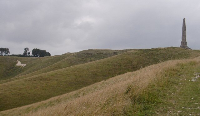 The Cherhill White Horse and the Landsdowne Monument