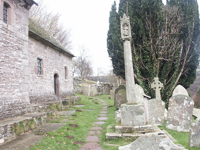 St Issui's Church &amp; Cross, Partrishow.