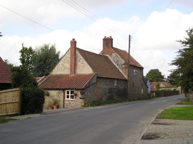 Typical flint clad Norfolk houses
