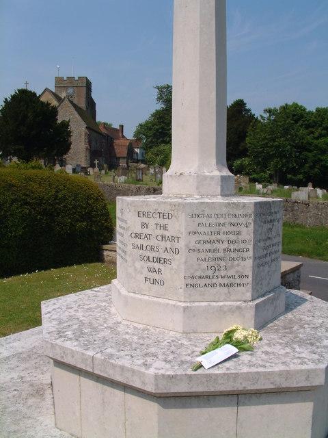 War Memorial & Church, Great Chart
