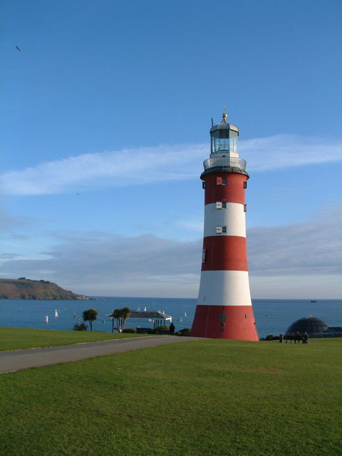 Lighthouse On Plymouth Hoe 169 Dave Skinner Cc By Sa 2 0