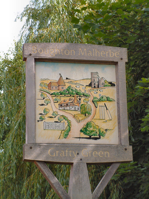 Village Sign, Grafty Green & Boughton Malherbe