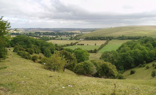 Looking towards Bowerchalke from Woodminton Down