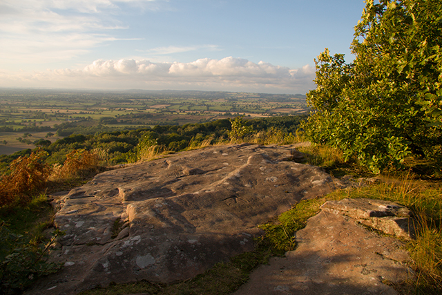 Stanner Nab, Peckforton Hills,  at sunset