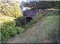 SE0735 : Railway Bridge under Station Road, Harecroft, Wilsden by Humphrey Bolton