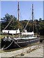 "SX4268 : Cotehele Quay, ""The Shamrock Barge"" by Neil Kennedy"