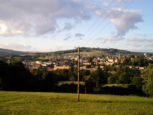 Stroud from the slopes of Rodborough Hill
