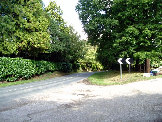 Road near Hophurst Farm