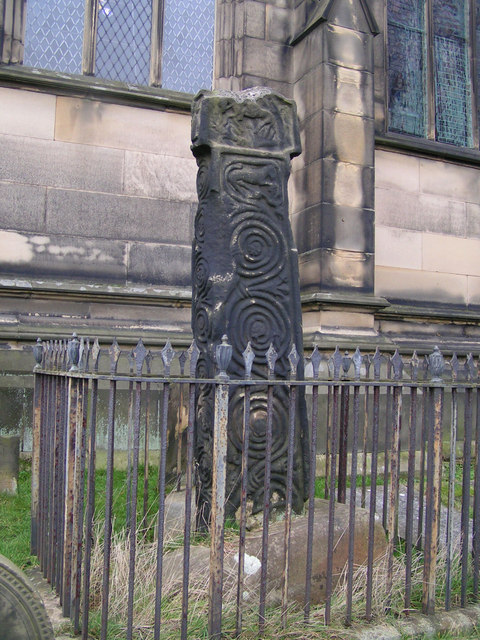 Saxon cross, All Saints' Church, Bakewell