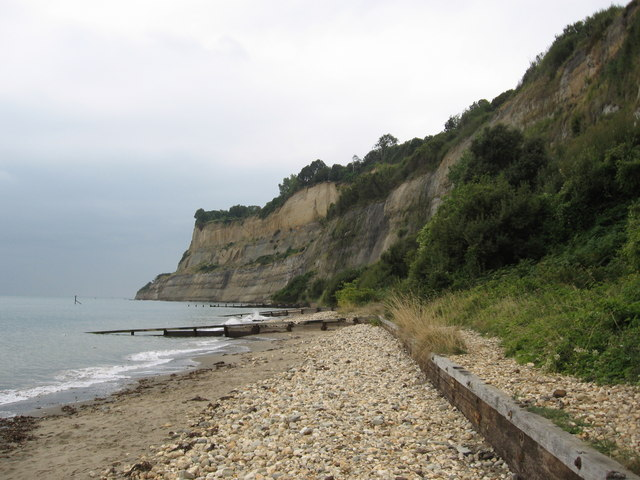 Horse Ledge, Shanklin Knock Cliff separating Shanklin and Luccombe