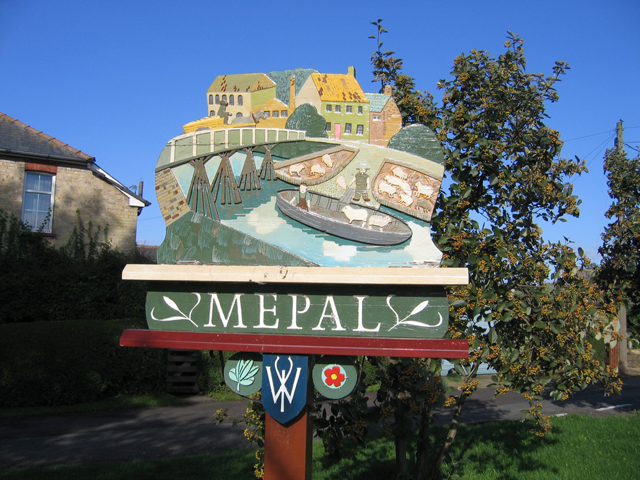 Village sign detail, Mepal, Cambs