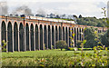 Dist:0.4km<br/>A closer image (of part) of the Welland Viaduct with a steam loco hauling a special train.