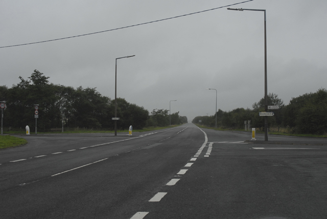 Road Junction on the A4221 near Coelbren