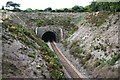 SW7942 : Northern Entrance to Sparnock Railway Tunnel by Tony Atkin