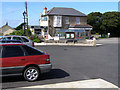 SW3834 : Car park and shops, Pendeen by Jim Champion