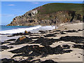 SW3835 : Beach at Portheras Cove by Jim Champion