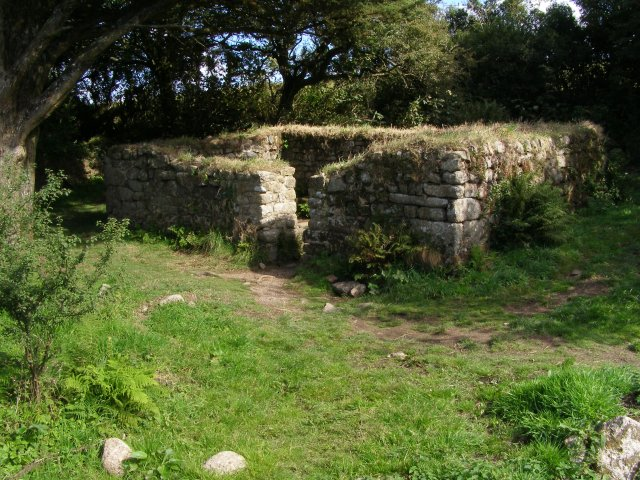Remains of Madron Well Chapel