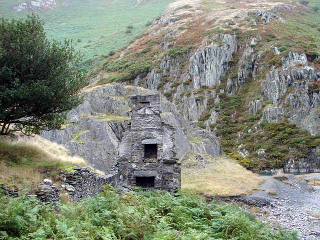 Ruined house by an old mine