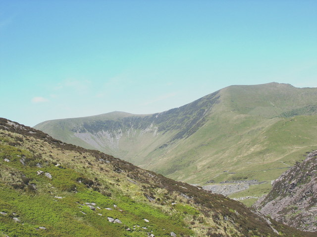 The View from the Princess Quarry Across Bwlch Cwm-Trwsgl towards the Prince of Wales Quarry