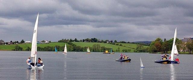 Sailing on Bardowie Loch