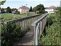 ST5679 : Footbridge over Hazel Brook by Philip Halling