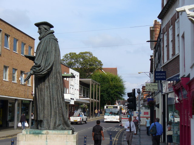 George Abbot Statue and Upper High Street