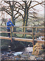 SJ9969 : Footbridge over Cumberland Brook by Stephen Craven