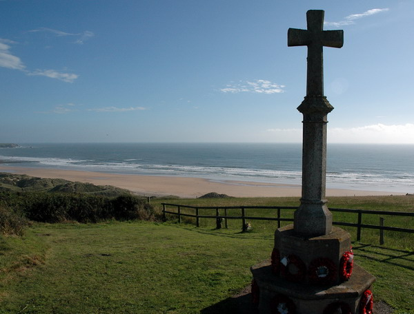 War Memorial at Freshwater West