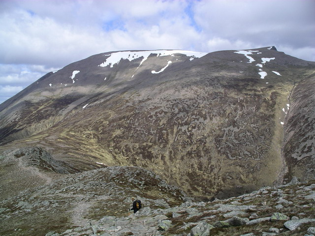 Ben Macdui from the north ridge of Carn a' Mhaim