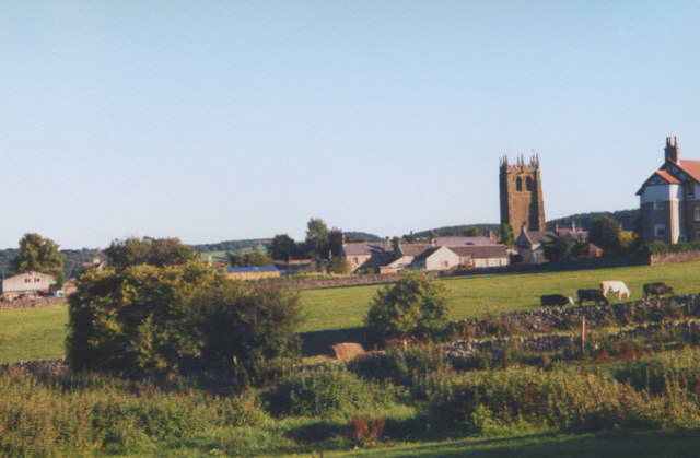 Youlgreave village from the north