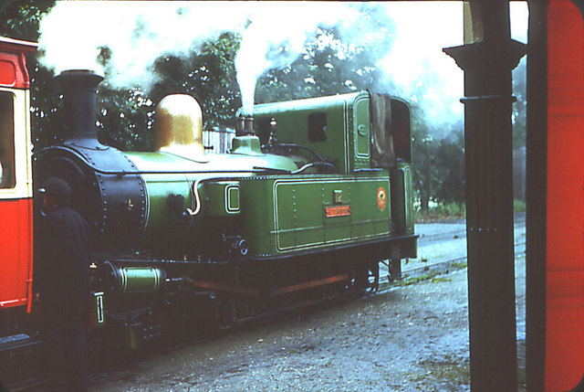 Castletown Railway Station. Engine #12 Hutchinson
