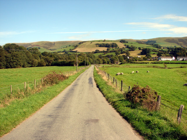 Country lane near Cemmaes