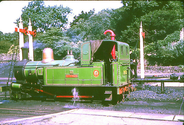 IoM steam railway engine  #12 Hutchinson at Douglas Station