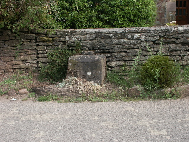 Maypole Wayside Cross, Socket Stone.