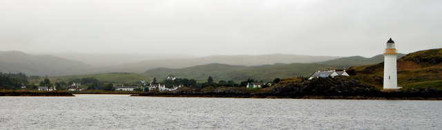 Isle Ornsay Lighthouse, Skye, Sound of Sleat.