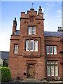 NY5442 : Staffield Hall front door. by wfmillar