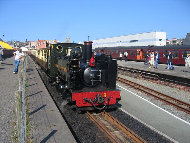No.8 waits to depart