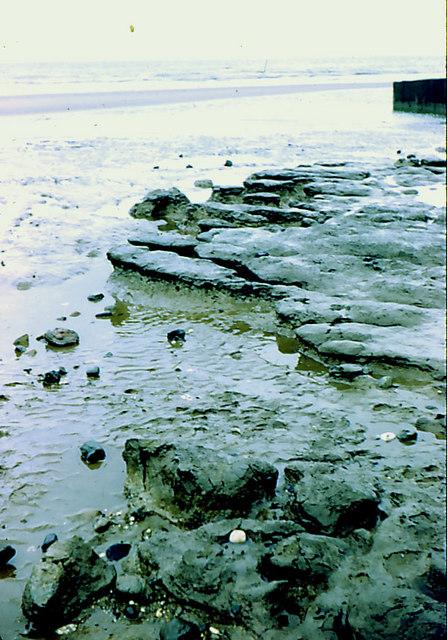 Boulder clay outcrop on beach