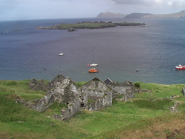 Derelict homes Great Blasket Island