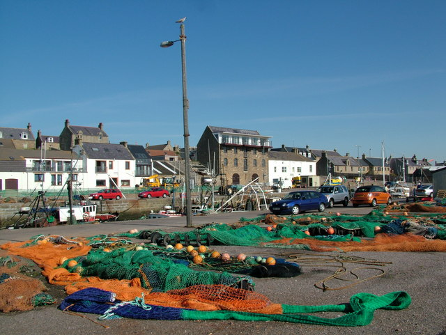 Fishing Nets at Burghead Harbour