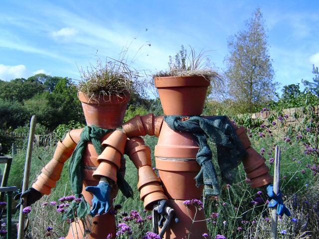 2 flowerpot men - Rosemoor Gardens
