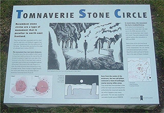 Tomnaverie Stone Circle interpretation.