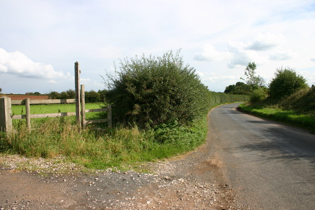 Public footpath and Country Lane