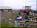 NS6677 : Farm Clutter at Burnibrae by Chris Upson