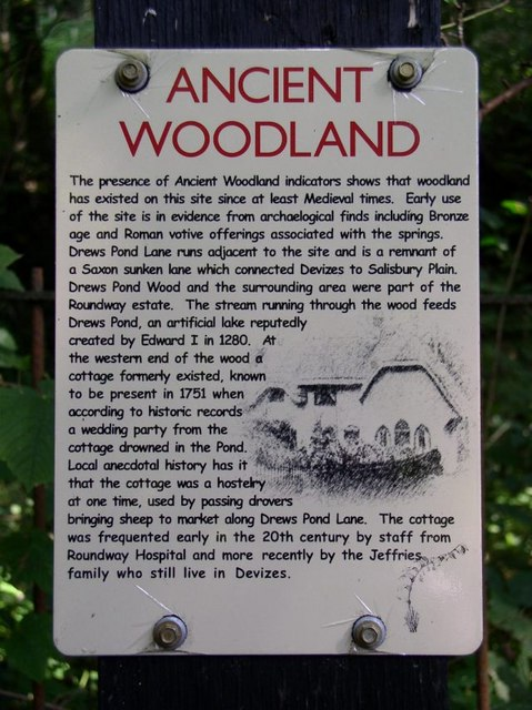 Notice near Drew's Pond