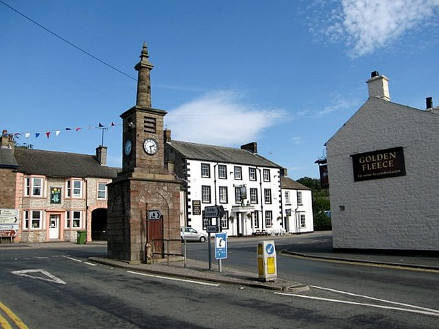 Brough, Cumbria: The Coronation clock tower