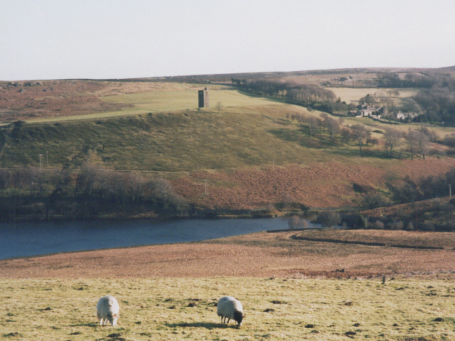 Top end of Strines reservoir