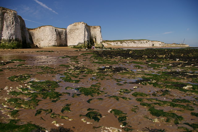 3 km from St Peter's, Kent, Great Britain. Foreness Point from Botany Bay