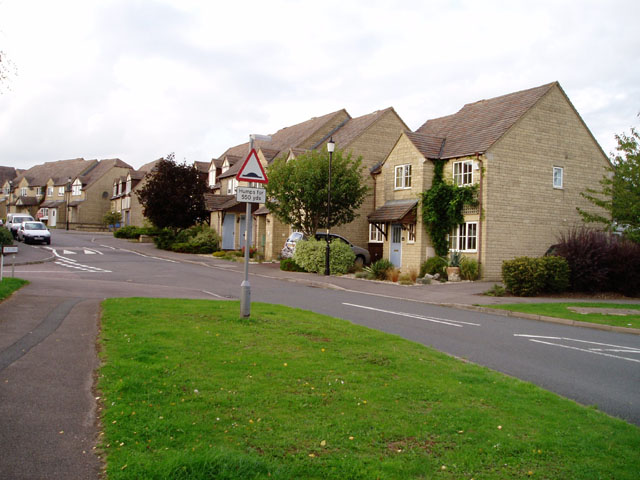 New housing estate, Bussage