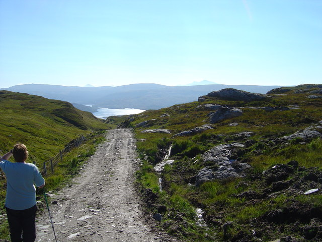 Estate road from Lochan nam Fiann to Glenborrodale